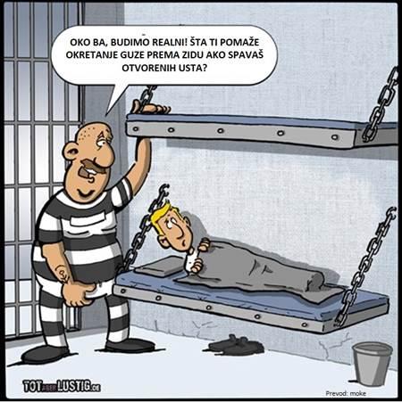 u zatvoru