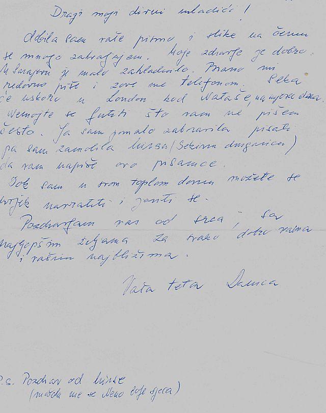 Pismo teta Danice